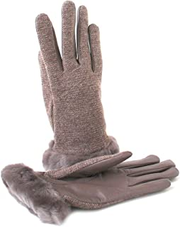 UGG Womens Fabric Leather Shorty Glove