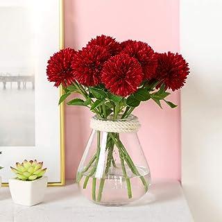 QWER - Ramo de flores artificiales de seda con diente de león, hortensias florales para boda, fiesta de cumpleaños, decoración doméstica, 10 unidades (sin jarrón)