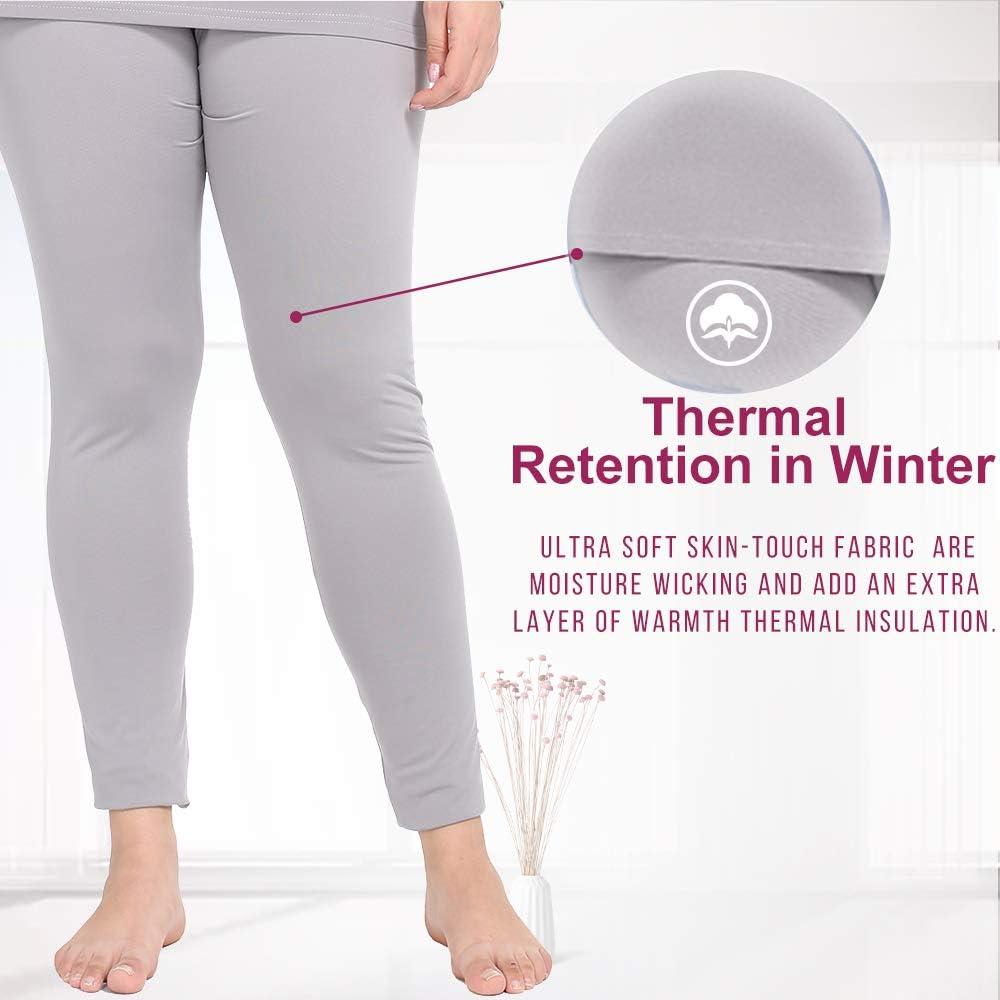 NUONITA Womens Thermal Pants Plus Size Fleece Lined Leggings Underwear Ultra Soft Bottoms