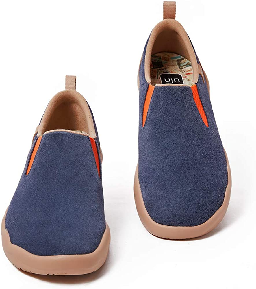 UIN Men's Walking Shoes Slip Louisville-Jefferson County store Mall On Casual Suede Cow Lightweight Com