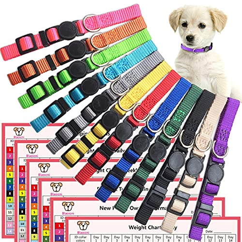 Puppy ID Collar Identification Soft Nylon...