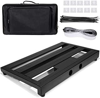 """Luvay Guitar Pedal Board - Extra Large (22"""" x 12.6"""") with Bag, 7LB Pedalboard"""