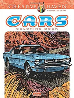 Creative Haven Cars Coloring Book (Creative Haven Coloring Books)