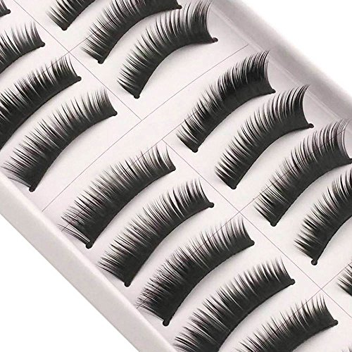 AKAAYUKO 10 Paires Faux Cils Natural Maquillage Extension #F-5