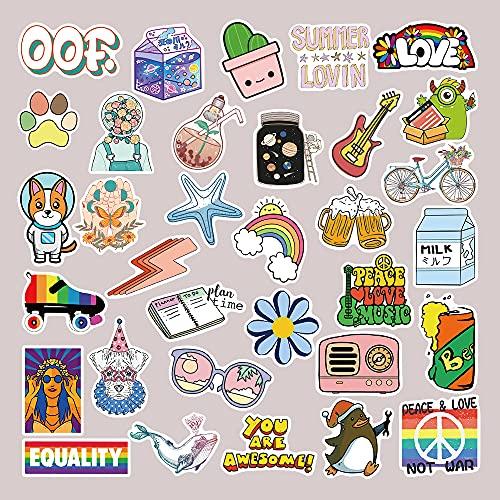 DSSJ 50 Pegatinas pequeñas Frescas y Bonitas Girl Ins Wind patrón de Dibujos Animados Funda para teléfono móvil Maleta Graffiti Pegatinas Impermeables