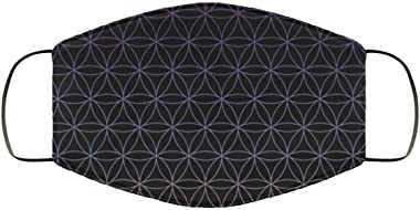 Flower of Life Colorful Pretty Pattern Face Mask - Face Mask - Breathable, Reusable and Machine Washable - Made in USA