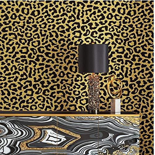 AYGANG Tapete Wallpaper schwarz pink, gelb, blau Wall Paper Fashion Modern Weiseluxuxfrauen Schlafzimmer Hintergrund 77 (Color : P02303, Dimensions : 10mx53cm)