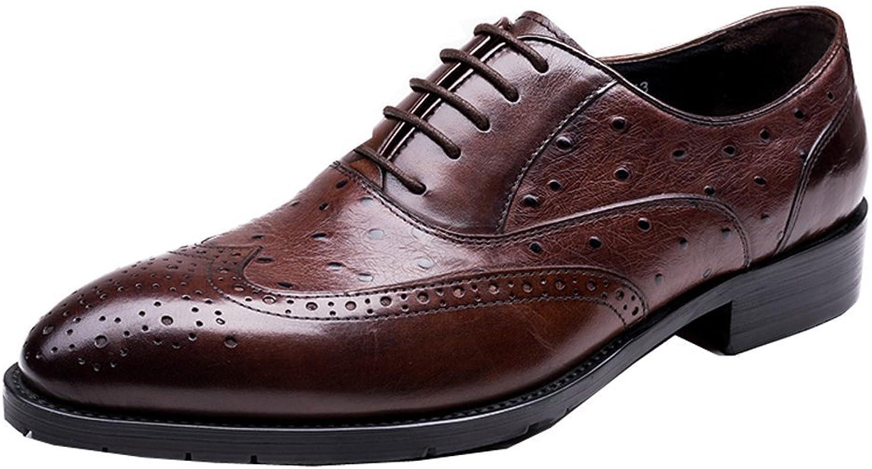 MEbox herr herr herr Luxury Cow läder Lace Up Brogue skor Oxfords  stora rabattpriser