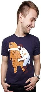 Chuck Norris Punching Bear WWE T Shirt Funny Gift for Boyfriend MMA Shirt Badass Clothing