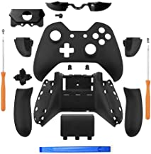 Iycorish Matte Black Controller Housing Shell Full Set Faceplates Buttons for One Controller with The 3.5 mm Headset Jack ...