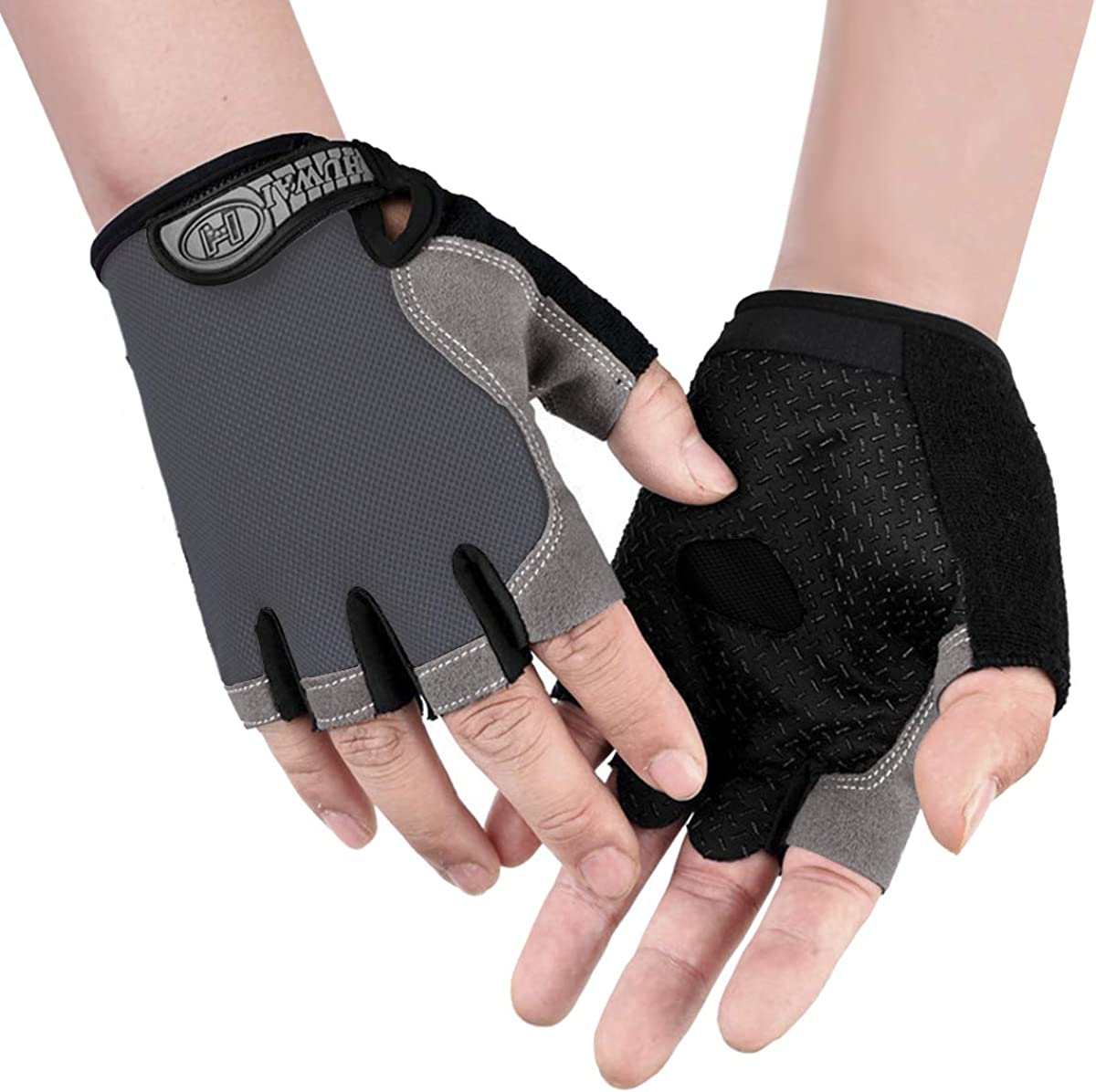 4 Colors Pull-up Outdoor LeerKing Fingless Sport Gloves Unisex Man Women Half Finger Cycling Gloves for Bike Size XS to XL Weightlighting Gym