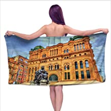 Leigh home 3D Printing Beach Towels,Queen Victoria buil in Sydney Built in Australia New South Wales,for Both Adults and Kids W 31.5