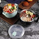 ZHUHUI Grand récipient de Rangement carré en Acier Inoxydable avec Baguettes et cuillère à Salade en Plastique