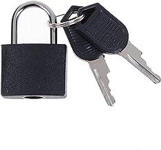 Deurslot 6 kleuren kleine sterke stalen hangslot reizen Tiny koffer slot met 2 sleutels Stabiel en betrouwbaar (Color : 6)