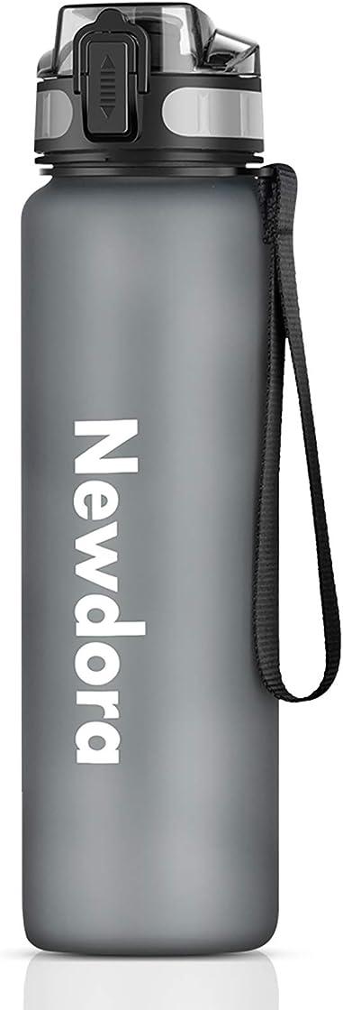 Bottiglia acqua-borraccia bici 100% a prova di perdite-borraccia leggera e sportiva 1000ml newdora B08863B68G