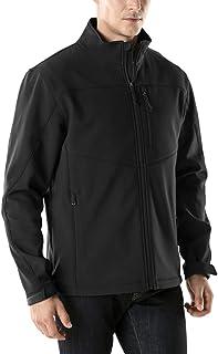 TSLA Men's Softshell Athletic Microfleece Active Wind-Repel Coat Full-Zip Outdoor Water-Proof Jacket
