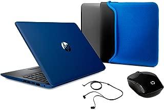 "HP Laptop, Pantalla de 14"" HD, Procesador A6, 4GB RAM, 500GB HDD, Sistema operativo Windows 10, Color Lumiere Blue (14-cm0021la)"