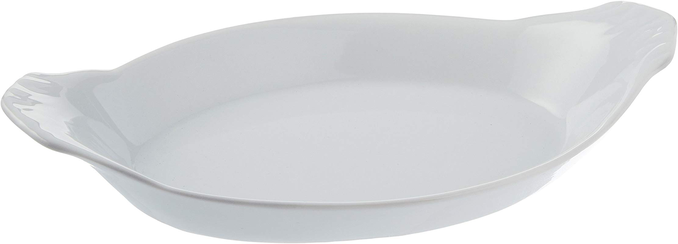 Bia Cordon Bleu 900049 White Oval Porcelain Au Gratin Bowl 8 Oz White