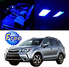 SCITOO LED Interior Lights 11pcs Blue Package Kit Accessories Replacement for 2009-2017 Subaru Forester