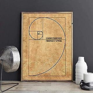 Posters,Tableaux,Fibonacci Spirale Brevet Mur Art Toile Peinture, Nombre d'or Affiches Et Impressions, Idée De Cadeau De P...