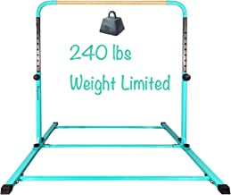 PreGymnastic Updated No Wobble Expandable Gymnastics Kip Bar with Fiberglass Rail & 304 Stainless Steel Regulating Arms, A...