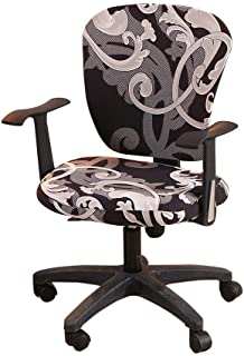 myonly - Funda para silla de oficina o de ordenador, funda para silla de escritorio, funda elástica giratoria extraíble, funda universal para sillón (sin silla)