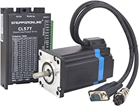 STEPPERONLINE 1 Axis Closed loop Stepper CNC Kit 3.5 Nm(495.74 oz.in) Nema 24 Closed loop Stepper Motor & Stepper Driver & 2 Extension Cable