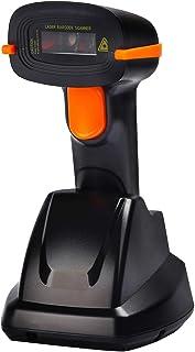 تيرا لاسلكي الباركود ماسح ضوئي USB قاعدة شحن المحمولة بار كود قارئ 1D استشعار تلقائي سريع ودقيق