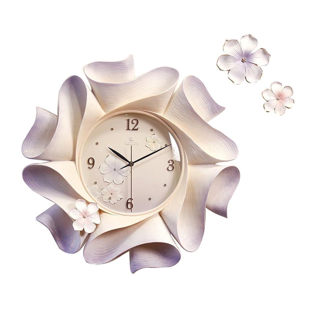 天受け取るアルコーブGREEM MARKET(グリームマーケット) 壁掛け時計 掛け時計 ウォール クロック ゴージャス 豪華 華やか 目立つ 桜 さくら 花 重厚感 金箔 品番:GMS01550(パープル)