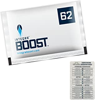 Integra Boost RH 62% 2 Way Humidity Control Large, 67g - 12 Pack + Twin Canaries Chart