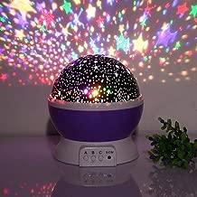 SHOPPOSTREET LED Night Lamp, Star Moon Night Light, Projection Lamp, Night Lamp for Kids Bedroom, Sky Star Moon Light Color Changing Night Light (Multicolor)