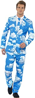 Smiffys Men's Sky High Suit, Jacket, Pants and Tie, Stand Out Suits, Serious Fun, Size