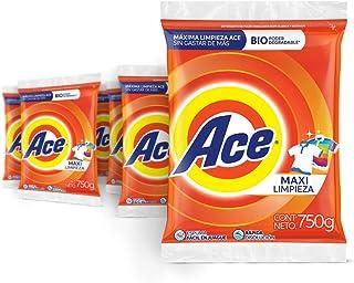 Ace Detergente En Polvo Uno Para Todo 6 Unidades De 750g,