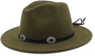HaiNing Zheng Women Men Winter Fedora Hat For Elegant Lady