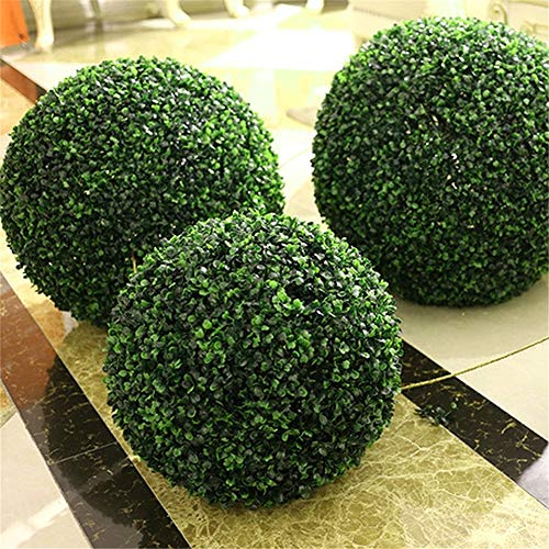 BSMEAN - Bola de hierba artificial, color verde, decoración para el hogar, al aire libre, boda, fiesta, 30 cm, å'æ–TM, 40 cm