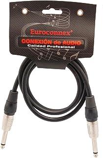 Euroconnex - Cable Audio Jack 6.35mm Mono Macho - Macho, Cable 6mm Profesional para Micrófonos, Altavoces, Amplificadores, Mesas de Mezcla y Otros Equipos de Audio (0,5m)