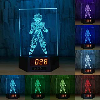 Dragon Ball Wukong Acrylic 3D Night Light Touch and Remote Control 7 Color Change Desk Table Lamps with Calendar Acrylic Lamp Nightlight (Wukong 1)