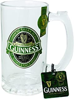 Guinness Green Collection Tankard - Large Glass Beer Mug