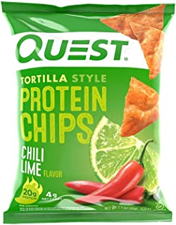 Quest Nutrition Tortilla Style Protein Chips, Chili Lime, Baked, 1.1 Ounce (12 Count)