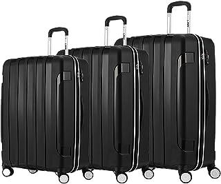 "LGO Travel Luggage 3PCS Set Suitcases TSA Lock Spinner Wheels Lightweight(20""24""28"")"