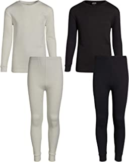 Arctic Hero Boys 2-Pack Thermal Warm Underwear Top and Pant Set