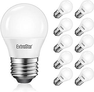10 x Bombillas LED E27, 5W Equivalente a 40 W Halógena, Luz Fría 6500K, 400 Lúmen, No regulable, Paquete de 10