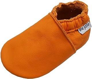 Mejale Chaussures en cuir pour bébé, jeunes enfants, semelles souples
