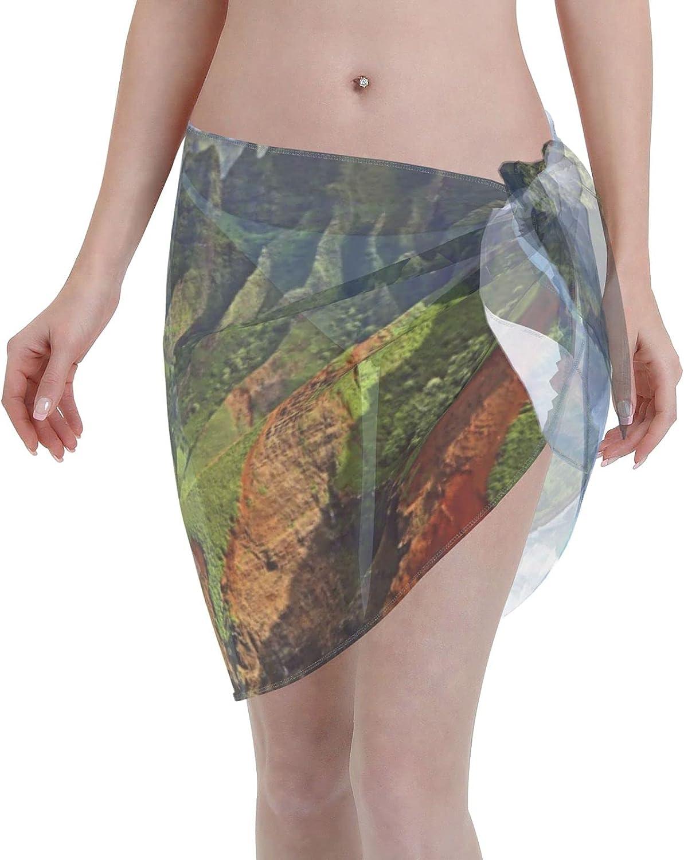MESCCHSK Ireland Outdoor County Women Short Sarongs Beach Wrap,Sheer Bikini Wraps Chiffon Cover Ups for Swimwear-55x19Inch