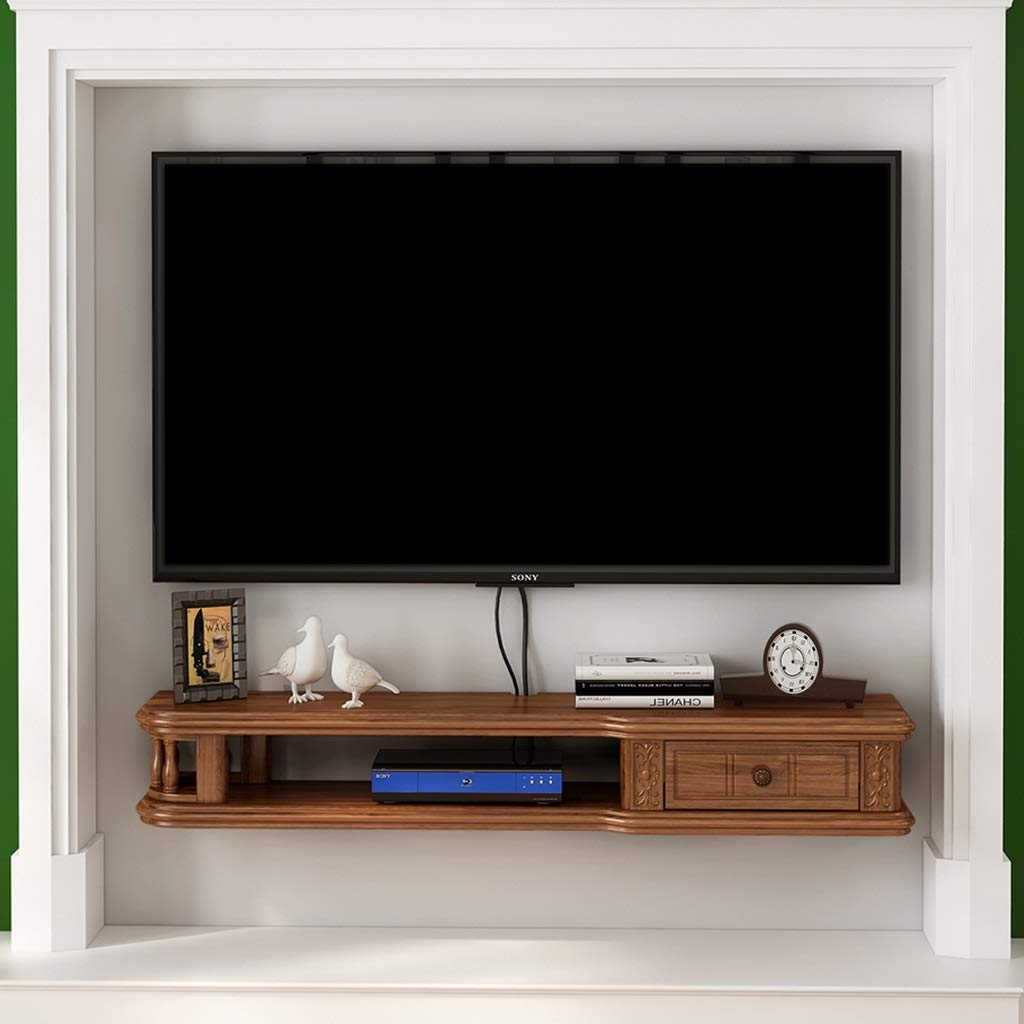 XXHDEE Armazón de Pared Flotante marrón Gabinete para TV Rack para TV Estante decodificador Estante para Consola de TV organización de Almacenamiento en Rack Caja de Cable estantería de Pared: Amazon.es: Hogar