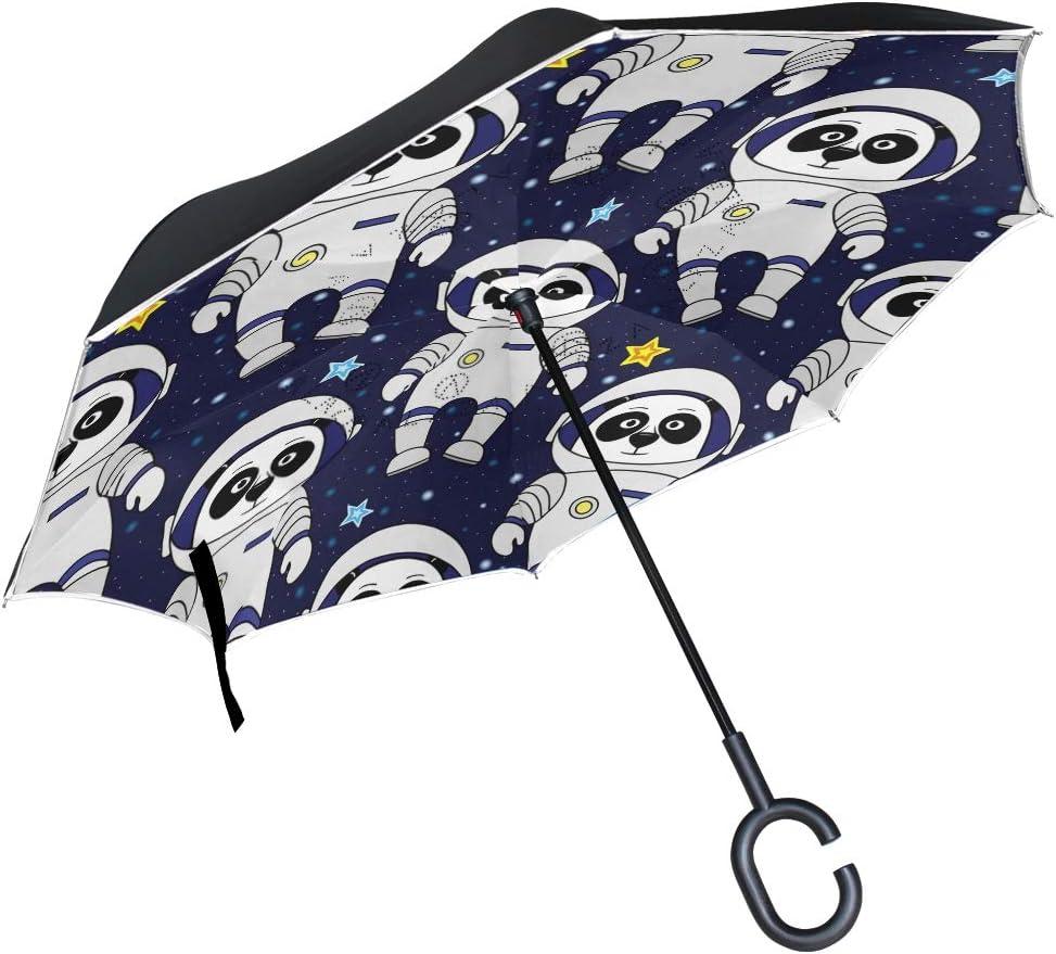 senya Double Layer Inverted depot Umbrella Handle Max 55% OFF C-Shaped with Panda