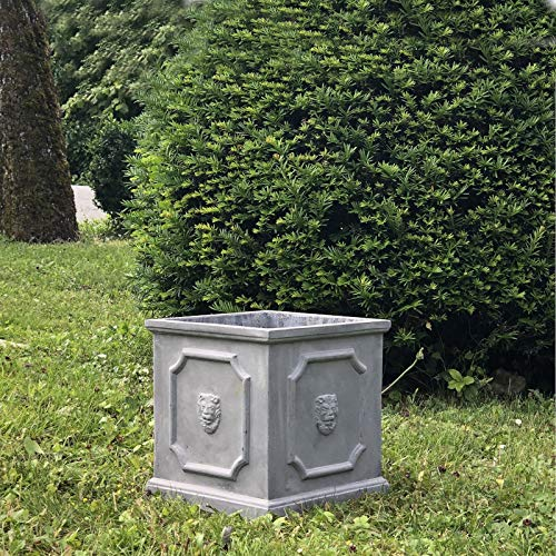 L'ORIGINALE DECO Jardinière Bac Pot à Plantes Arbre de Jardin d'Entrée Vase Jardiniere Vasque Medicis 27 cm x 26 cm