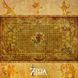 The Legend of Zelda Breath of The Wild Hyrule Map Canvas Print Poster Wall Art Decor - 6x6 inch - Ganon and Divine Beasts; Vah Ruta Vah Medoh Vah Rudania and Vah Naboris