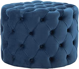 Best baxton studio keswick patterned linen modern tufted ottoman Reviews