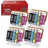 Toner Kingdom 550XL 551XL Cartuchos de Tinta Compatible para Canon PGI-550 XL CLI-551 XL para Canon Pixma IP8750 IP7250 IX6850 MG5450 MG5550 MG5650 MG6450 MG6650 MX725 MX925